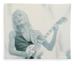 Randy Rhoads Day On The Green 7-4-81 Fleece Blanket