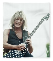 Randy Rhoads New Release At The Green In Oakland-july 4th 1981 Fleece Blanket