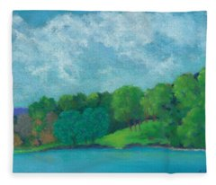 Raquel's Morning Walk Fleece Blanket