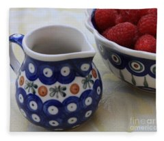 Raspberries With Cream Fleece Blanket