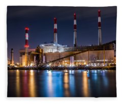 Ravenswood Generating Station Fleece Blanket