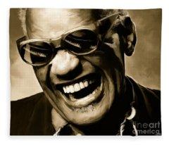 Ray Charles - Portrait Fleece Blanket