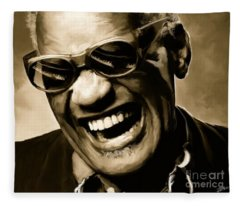 Ray Charles - Portrait Fleece Blanket