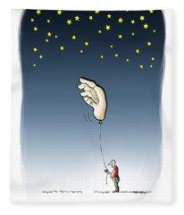 Reach For The Stars Fleece Blanket