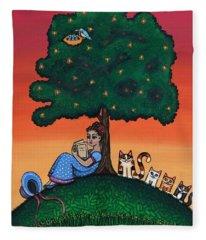 Reading Jane Fleece Blanket