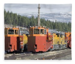 Ready For More Snow At Donner Pass Fleece Blanket