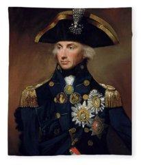 Rear-admiral Sir Horatio Nelson Fleece Blanket