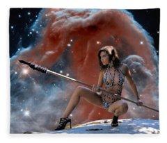 Rebel Warrior Fleece Blanket