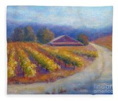 Red Barn Vineyard Fleece Blanket