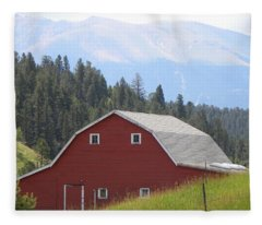 Barn - Pikes Peak Burgess Res Divide Co Fleece Blanket