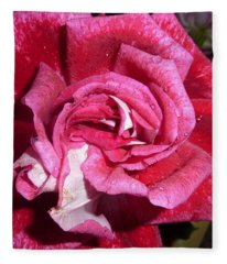 Red Beauty 2  Fleece Blanket
