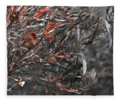 Red Camo Fleece Blanket