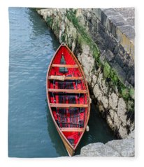 Red Canoe Fleece Blanket