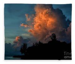 Red Clouds Fleece Blanket