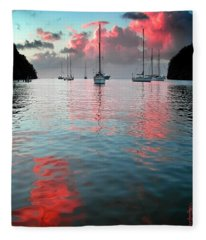 Red Clouds Fleece Blanket