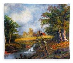 Red Cottage Fleece Blanket