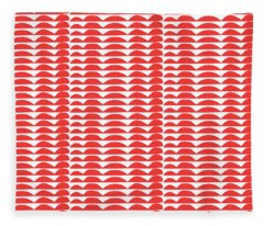 Red Cut Outs- Abstract Pattern Art Fleece Blanket