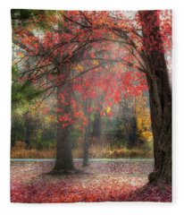 Red Dawn Square Fleece Blanket