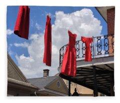 Red Dress Lineup  Fleece Blanket