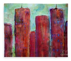 Red In The City Fleece Blanket