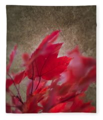 Red Maple Dreams Fleece Blanket