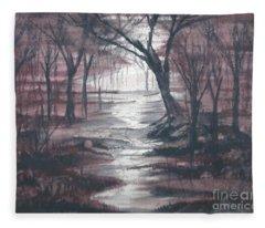 Red Mist  Fleece Blanket