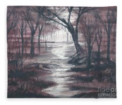 Red Mist  Fleece Blanket