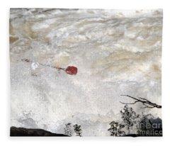 Red Paddle Fleece Blanket