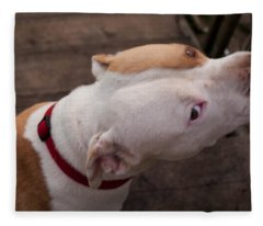 Red Pit 3 Fleece Blanket
