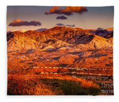 Red Planet Fleece Blanket