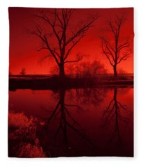 Red Reflections Fleece Blanket