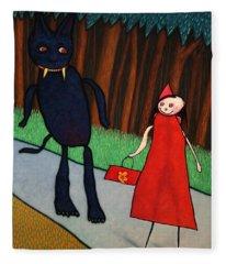 Red Ridinghood Fleece Blanket