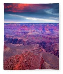 Red Rock Dusk Fleece Blanket