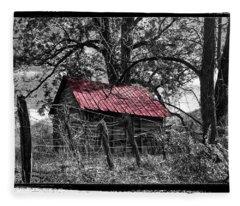 Red Roof Fleece Blanket