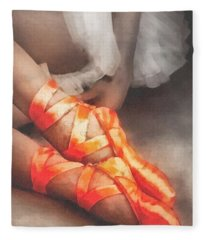 Red Shoes Fleece Blanket