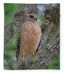 Red Shoulder Series 1 Fleece Blanket