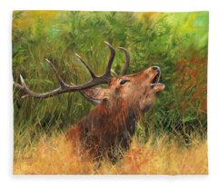 Red Stag Fleece Blanket