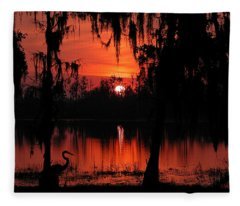 Red Swamp Fleece Blanket