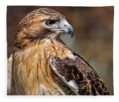 Red Tail Hawk Fleece Blanket