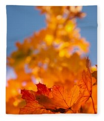 Red Tipped Gold Fleece Blanket