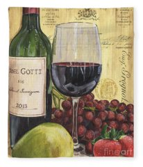 Red Wine And Pear Fleece Blanket