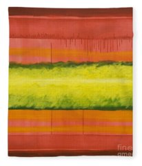 Red Yellow And Green Fleece Blanket