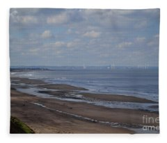 Redcar From A Distance Fleece Blanket