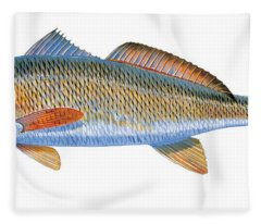 Redfish Fleece Blanket