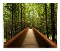 Redwood Bridge Fleece Blanket