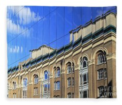 Reflected Building London Fleece Blanket
