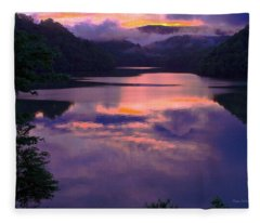 Reflected Sunset Fleece Blanket