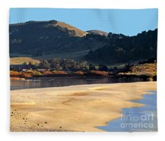 Reflecting The Setting Sun Fleece Blanket