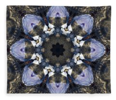 Reflection  Kaleidoscope Fleece Blanket