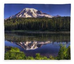 Reflection Lake Panorama Fleece Blanket